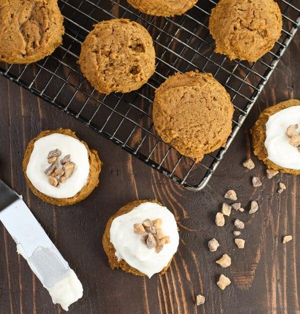 Spiced Pumpkin Cookies with Cream Cheese Frosting  (2 of 2)