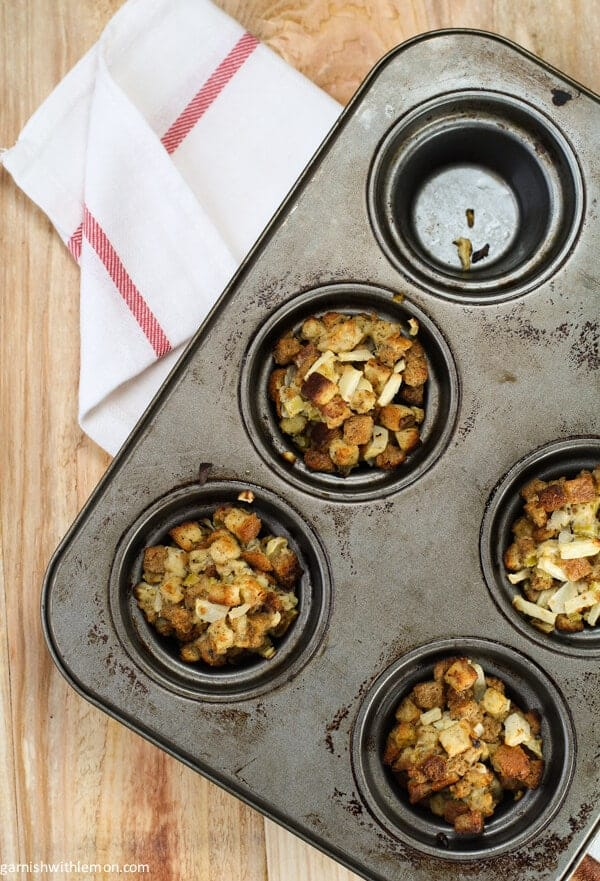 Apple Sage Stuffing Cups