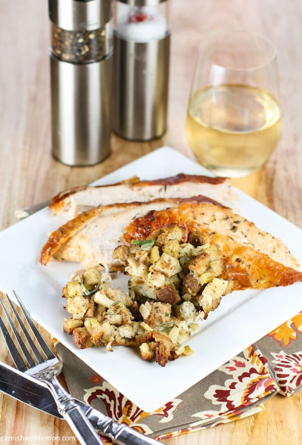 ... this simple apple with apple sage stuffing apple and sage stuffing