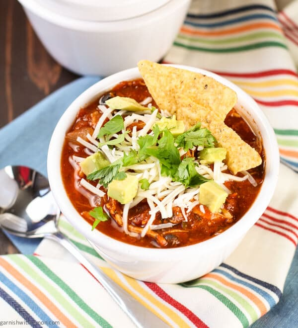 This tasty Slow Cooker Chicken Tortilla Soup is an easy weeknight ...
