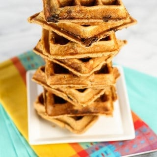 Peanut Butter Chocolate Chip Banana Waffles (1 of 2)