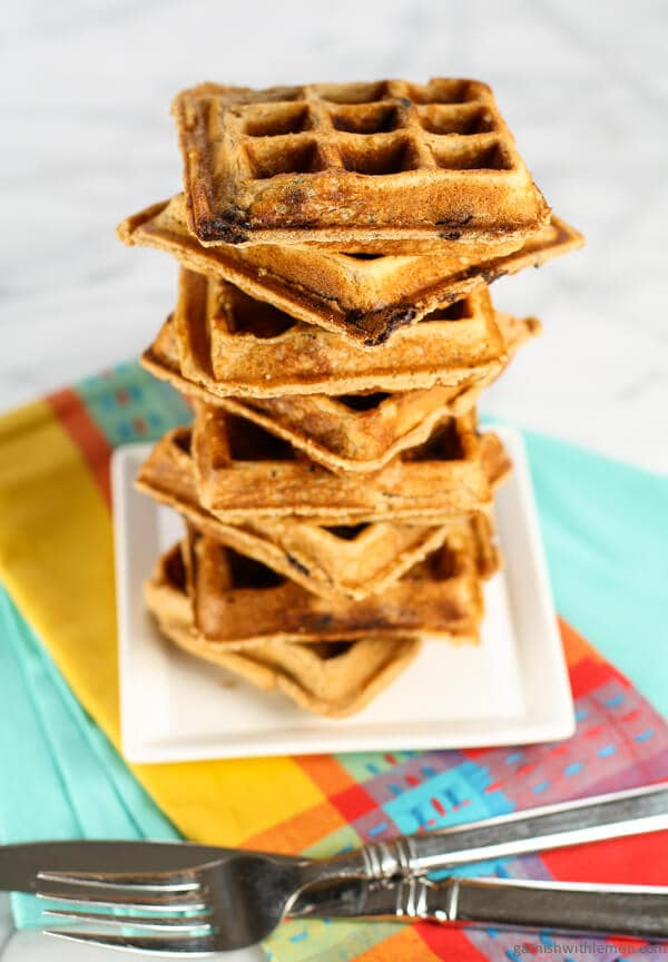 Whole wheat flour and peanut butter make these waffles an easy choice ...