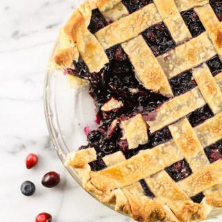 Cranberry and Wild Blueberry Pie