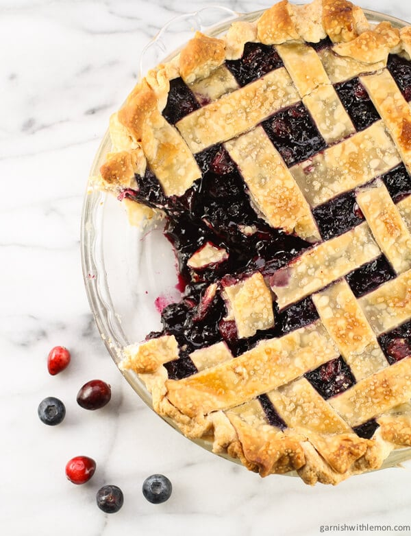 Cranberry Wild Blueberry Pie
