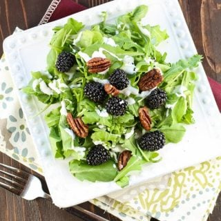 Arugula Salad with Blackberries and Creamy Goat Cheese Dressing (1 of 2)