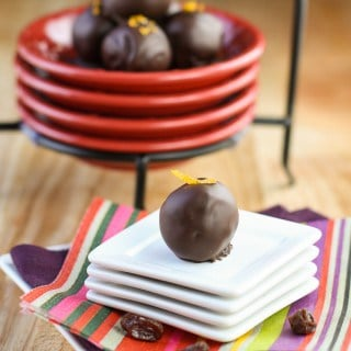 Dark Chocolate Orange Raisin Truffles (1 of 2)