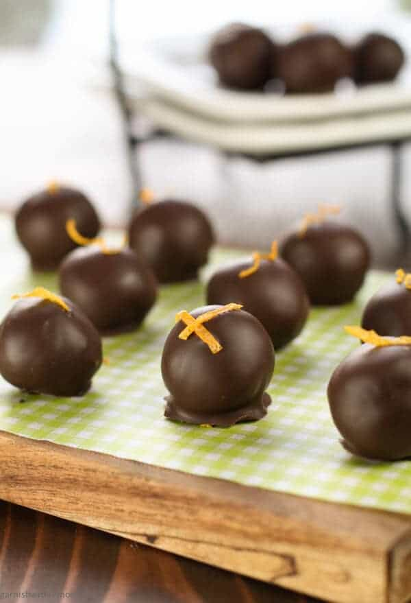 Dark Chocolate Orange Raisin Truffles
