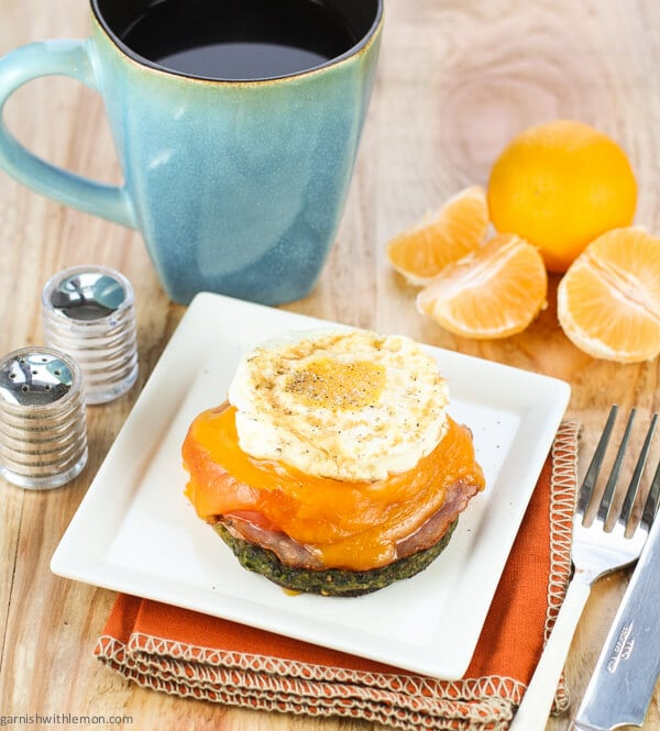 Open Face Fried Egg & Spinach Sandwich