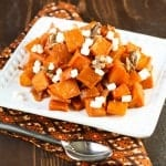 Spicy Roasted Squash with Goat Cheese