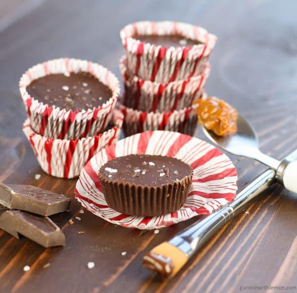 Homemade Dulce de Leche Chocolate Cups