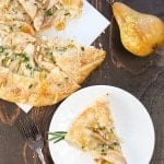 Goat Cheese, Pear and Rosemary Galette