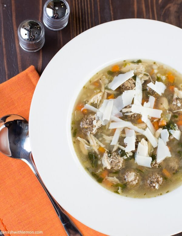 Slow-Cooker Italian Wedding Soup From Garnish with Lemon