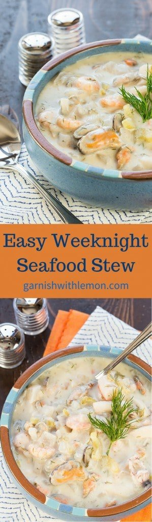 Take the intimidation out of making seafood with this Easy Weeknight Seafood Stew.