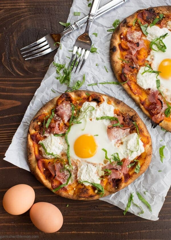 This quick and easy Ham and Egg Breakfast Pizza is proof that pizza for breakfast is meant to be!