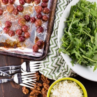 Roasted Grape, Feta and Arugula Salad (1 of 2)