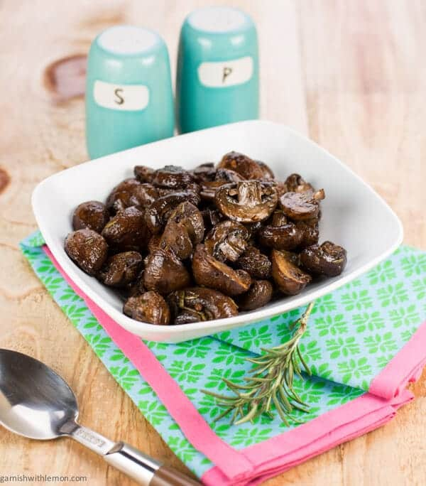 ... rosemary flavor make these easy Rosemary Balsamic Roasted Mushrooms