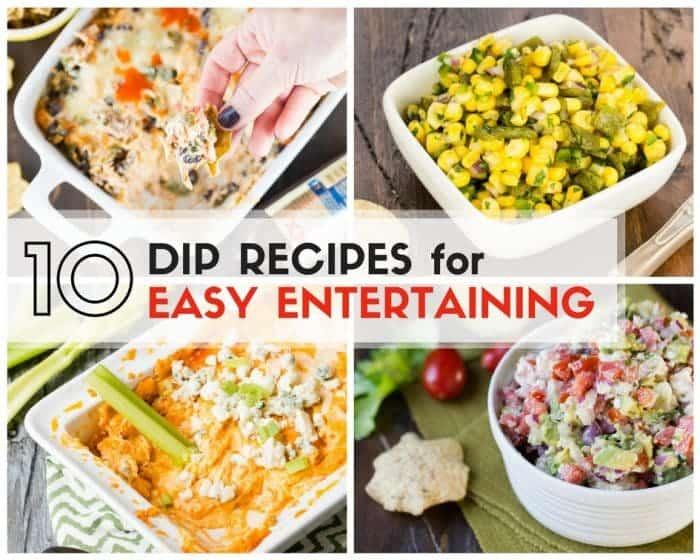 Need snack ideas for your next party? Don't miss our list of 10 Dip Recipes for Easy Entertaining!