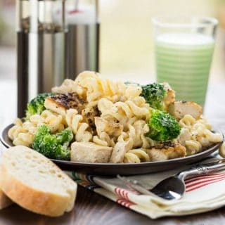 Lemon Chicken and Broccoli Alfredo