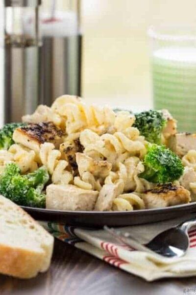 Lemon Chicken and Broccoli Alfredo