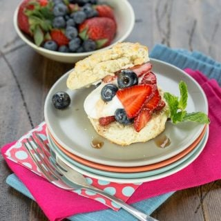 Balsamic Berry Shortcakes with Greek Yogurt Whipped Cream