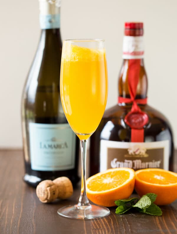Just say no to plain boring mimosas! We made this Grand Orange Mimosa with freshly squeezed orange juice and Grand Marnier to transform an ordinary mimosa into an outstanding one.