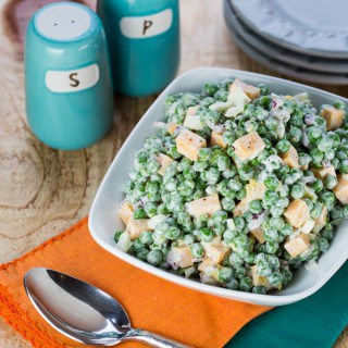 Easy Pea and Cheese Salad