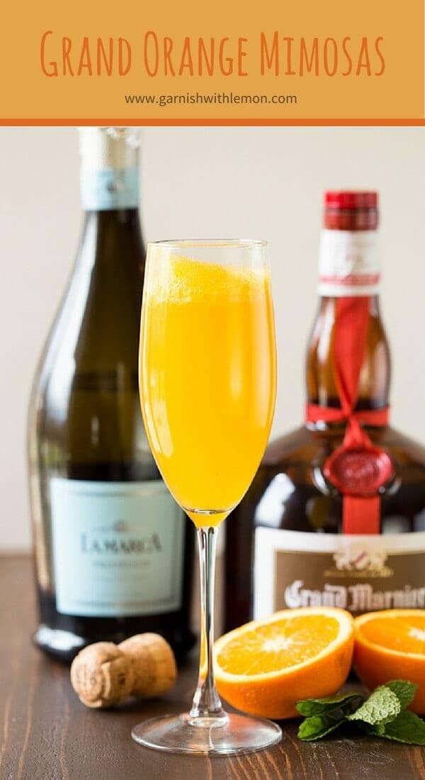Grand Orange Mimosa Recipe Garnish With Lemon