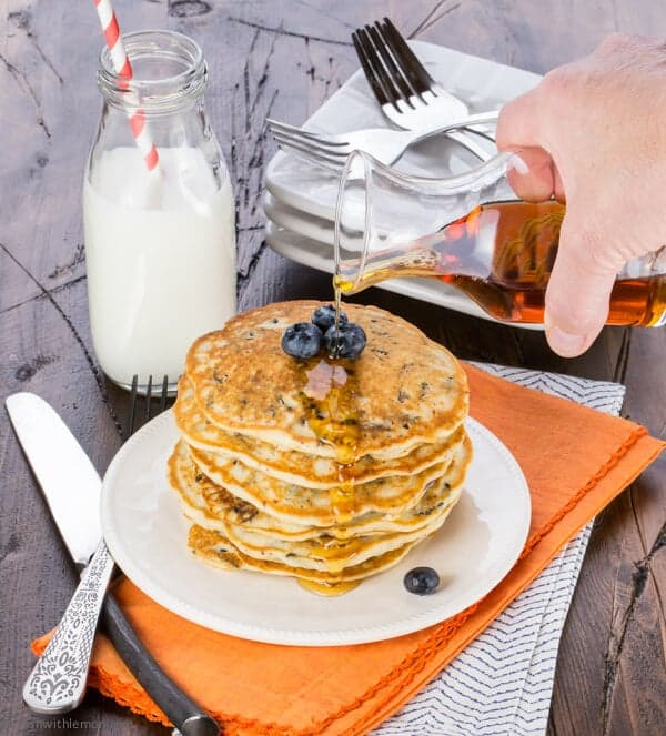 Minnesota Blueberry and Wild Rice Pancakes