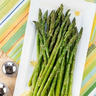 Roasted Asparagus with Lemon Vinaigrette - Pinterest