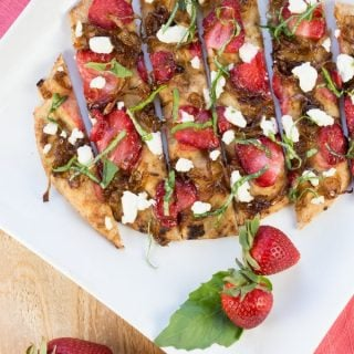 Strawberry Flatbread with Balsamic Onions and Goat Cheese (1 of 2)
