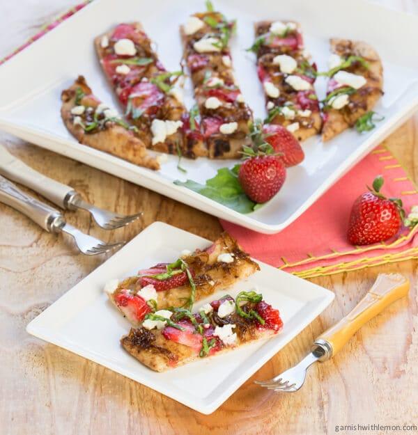 Strawberry Balsamic Flatbread Recipe — Dishmaps