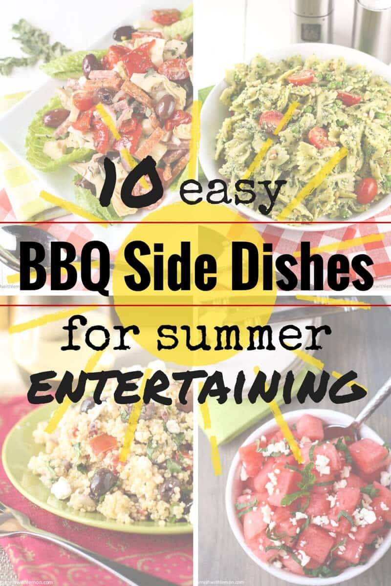 Pin this list of 10 Easy BBQ Side Dishes and never wonder what to bring to another summer grill out again!