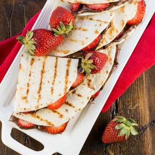 Grilled Strawberry Nutella Quesadillas