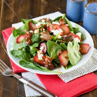 Spinach Salad with Strawberries and Feta