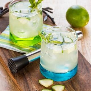 Cucumber Basil Vodka Gimlet