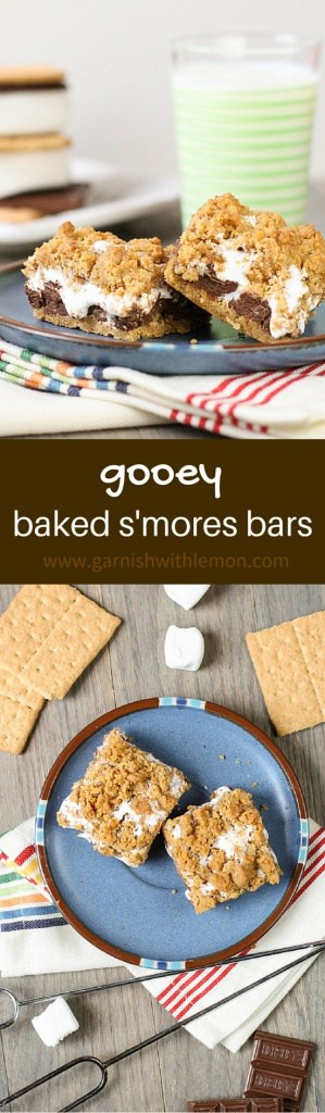 Enjoying s'mores year-round just got a little bit easier with these Gooey Baked S'mores Bars.