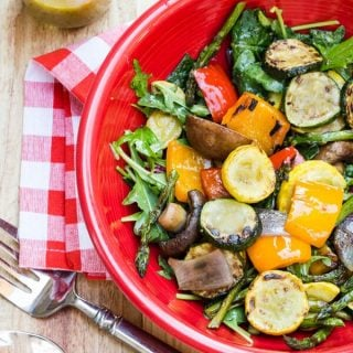 Grilled Vegetable and Kale Salad