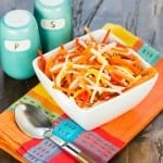 Summer sides are all about making use of the freshest produce available, and this Mango Jicama Slaw is a sweet & savory twist on your typical BBQ side dish.