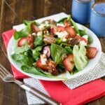 featured image for spinach salad with strawberries.