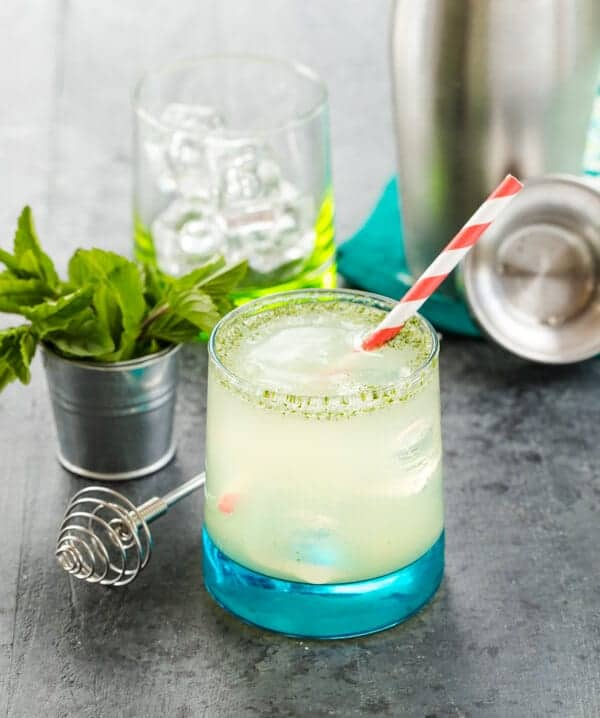 Filled with citrus and mint, this Bootleg Cocktail can be made with gin, rum or vodka to please any of your summer guests!