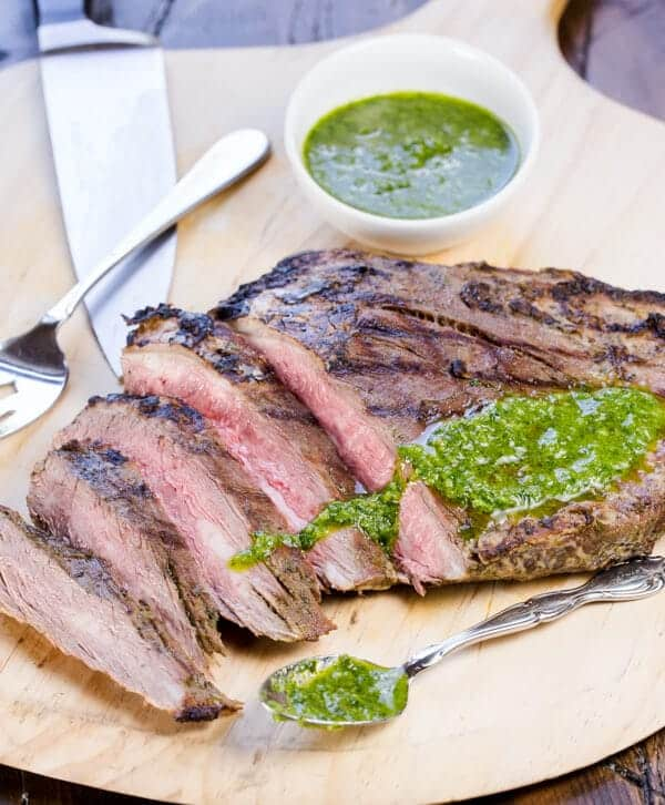... Flank Steak with Chimichurri Sauce my favorite way to eat steak in the