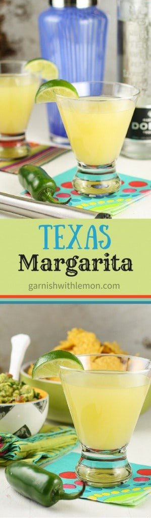 The Texas Margarita Recipe: a twist on the traditional drink with pineapple juice and some added heat from a jalapeño pepper.