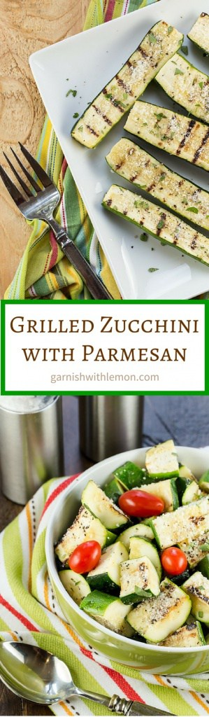 Grilled Zucchini with Parmesan is a simple side dish that lets the flavors of summer shine through.