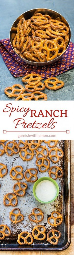 Need a quick and simple snack idea? These Spicy Ranch Pretzels are irresistible and couldn't be easier to make!