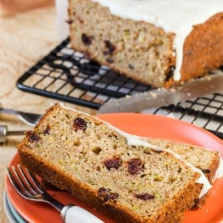 Zucchini Bread with Craisins and Vanilla Bean Glaze 2015 (1 of 2)-2