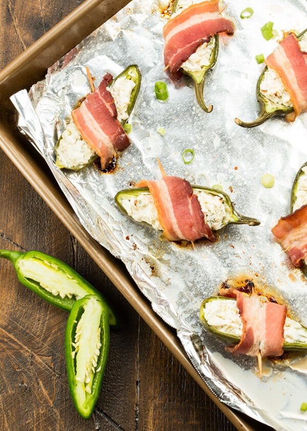 Bacon and Apple Jalapeno Poppers -Tart apples give a new twist to a traditional party food in these Bacon & Apple Jalapeño Poppers.
