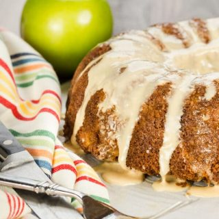 Apple Bundt Cake with Salted Caramel Glaze