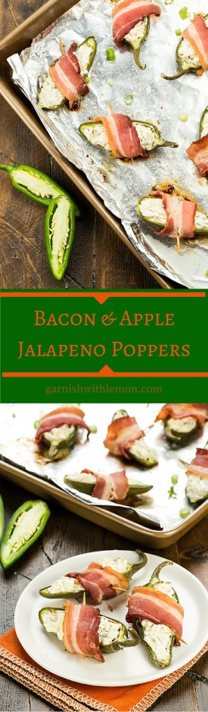 Tart apples give a new twist to a traditional party food in these Bacon & Apple Jalapeño Poppers.