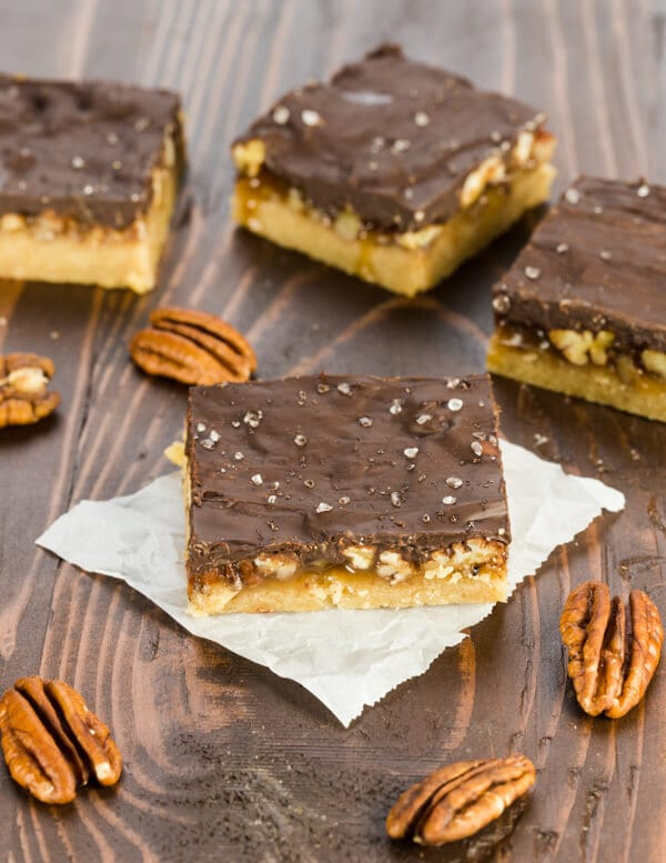 ... no further than these decadent but simple Butter Pecan Turtle Bars
