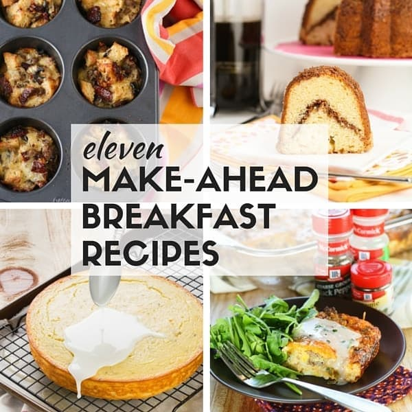 Hosting holiday brunch this year? Find great ideas you can prepare the night before in our list of 11 Make-Ahead Breakfast Recipes for a Crowd. 11 Make-Ahead Breakfast Recipes for a Crowd